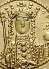 A coin issued by Empress Theodora
